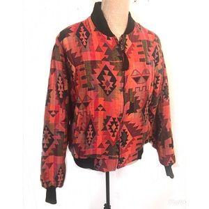 Vintage Southwestern bomber jacket coat